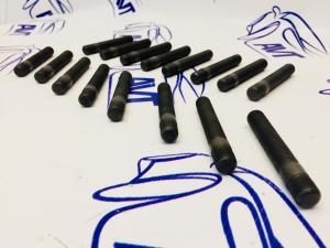 Шпильки колесные каленые, резьба накатанная, без гайки (L=80 мм) ZUZ