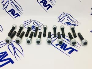 Шпильки колесные каленые, резьба накатанная, с гайкой (L=80 мм) ZUZ