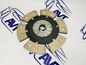 Диск сцепления для а/м ВАЗ 2110-12 металлокерамический без демпфера (6 лепестков) 200мм