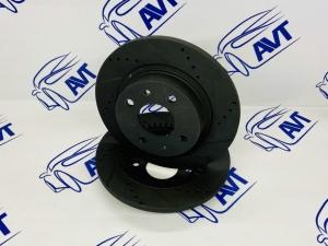 Диски тормозные задние R13 для ЗДТ Vektor СПОРТ (черные) под ABS (2шт)