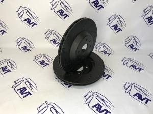 Диск тормозной передний R14 (вентилируемый, евро-спорт, черный) Vektor (2шт.)