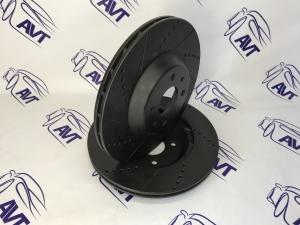 Диск тормозной передний R15 (вентилируемый, евро-спорт, черный) Vektor (2шт.)