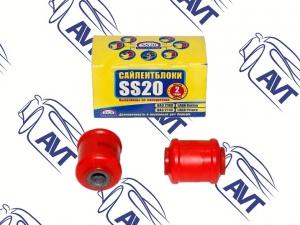 Сайлентблок нижнего рычага 2108 SS20 (полиуретан, красный) 2шт (70114)