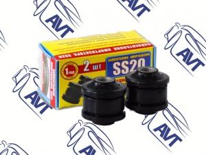 Сайлентблок амортизатора переднего 2101, 21214, 2123 SS20 (резиновый, черный) 2шт (60101)