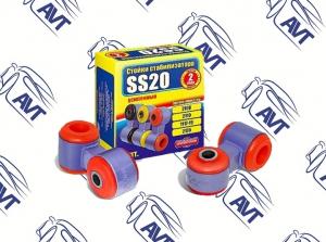 Стойки стабилизатора в сборе 2108 SS20 (полиуретан, красные) 2шт (40108)