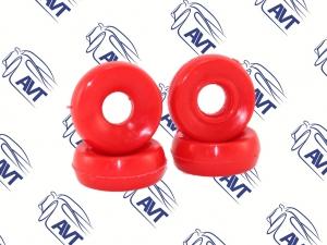 Втулка амортизатора заднего 2110, перед. 2101 SS20 (бублики) (красные,полиуретан) 4шт (70116)