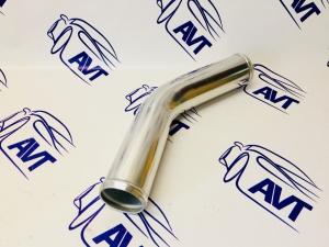 Труба алюминиевая 51мм, 45гр 300мм
