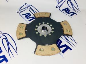 Диск сцепления для а/м ВАЗ 21214, 2123 (Chevrolet Niva) металлокерамический без демпфера (4 лепестка) 215мм