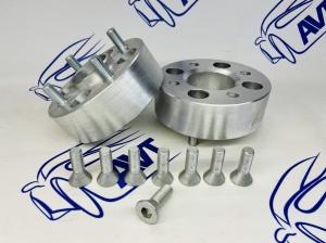 Проставки колеса 50 мм ZUZ с шпильками и гайками (2шт)
