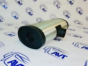 Глушитель прямоточный универсальный MG Race (125x170x460 вход 63, выход 2х51, Т-образн.) U20T46063/52
