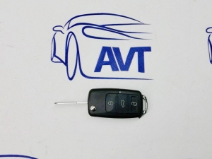 Ключ замка зажигания 1117-18, 2170-72, 2190, DATSUN, 2123 (выкидной) по типу Volkswagen, 3 кнопки