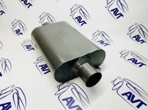 Глушитель прямоточный универсальный Fortluft (325x225x100 вход 63 мм.), серия American Muscle