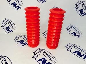 Пыльник заднего амортизатора 2108-10 (2 шт.) силиконовый красный