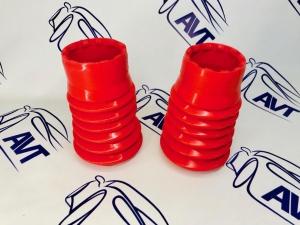 Пыльник передней стойки 2108-10 (2 шт.) силиконовый красный