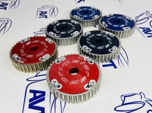 Шестерни разрезные ГРМ 16V Приора (ал. ступица)  с маркерным диском (крашеные)