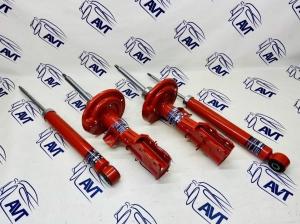 Комплект газомасляных стоек и амортизаторов для а/м Lada Vesta (Лада Веста) с занижением от 0 до -70 мм