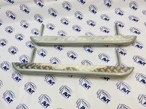 Пороги металлические ВАЗ 2121-214 (Нива, Нива Урбан) с алюминиевым листом 63.5 мм (Металл-Дизайн)
