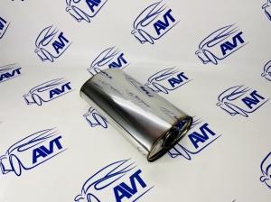 Глушитель прямоточный универсальный MG Race (90x160x290 входа 54 мм) 34430