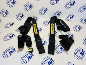 Ремни безопасности Sabelt style 4-х точечные быстросъемные (черные)